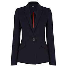 Buy Oasis Textured Ponte Jacket, Navy Online at johnlewis.com