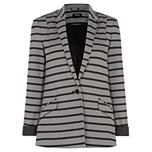 Buy Oasis Stripe Ponte Jacket, Black/Multi Online at johnlewis.com