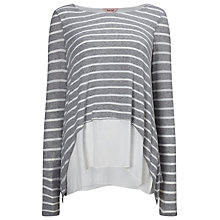 Buy Phase Eight Ciera Layered Stripe Top, Grey Online at johnlewis.com