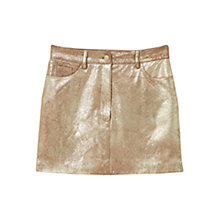 Buy Mango Metallic Skirt, Gold Online at johnlewis.com