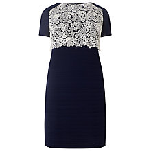 Buy Studio 8 Lucia Contrast Lace Dress, Navy Online at johnlewis.com
