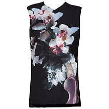 Buy Ted Baker Hazmy Ethereal Posie Fitted Top, Black Online at johnlewis.com