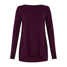 Buy Hobbs Kerry Sweater, Plum Online at johnlewis.com