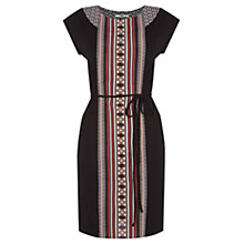 Buy Oasis Deco Patterned Tunic Dress, Black/Multi Online at johnlewis.com