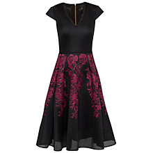Buy Ted Baker Levana Embroidered Mesh Full Skirt Dress, Dark Red Online at johnlewis.com