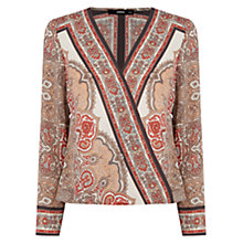 Buy Oasis Scarf Print Blouse, Multi Online at johnlewis.com