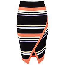Buy Ted Baker Xammie Tribal Stripe Wrap Midi Skirt, Navy Online at johnlewis.com