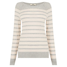 Buy Oasis Pretty Stripe Pointelle Jumper, Multi Online at johnlewis.com