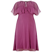 Buy Studio 8 Angelina Silk Dress, Purple Online at johnlewis.com