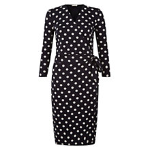Buy Hobbs Sally Spot Dress, Navy/Ivory Online at johnlewis.com