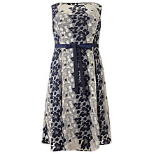 Buy Studio 8 Carlotta Embroidered Dress, Navy/Silver Online at johnlewis.com