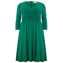 Buy Studio 8 Alessia Wrap Front Dress, Emerald Online at johnlewis.com