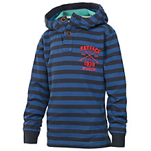 Buy Fat Face Boys' Heritage Stripe Hoodie, Blue Online at johnlewis.com