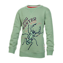 Buy Fat Face Boys' Beetle Crew Neck Sweatshirt, Green Online at johnlewis.com