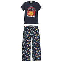 Buy Fat Face Boys' Camper Van Print Pyjama Set, Blue Online at johnlewis.com
