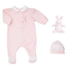 Buy Emile et Rose Baby Bunny Romper And Hat Set, Pink Online at johnlewis.com