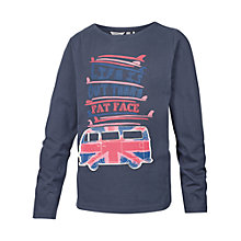 Buy Fat Face Girls' Union Jack Van Long Sleeve T-Shirt, Navy Online at johnlewis.com