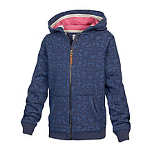 Buy Fat Face Girls' Butterfly Zip Through Hoodie, Blue Online at johnlewis.com