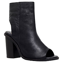 Buy KG by Kurt Geiger Milly Cut Away Shoe Boots, Black Leather Online at johnlewis.com
