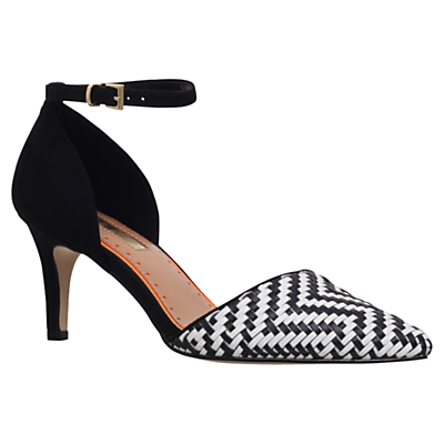 Miss KG Brooke Two Part Court Shoes, Black/White