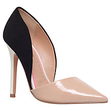 Buy Miss KG Andi Asymmetric Cut Away Court Shoes, Black Suedette Online at johnlewis.com