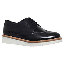 Buy KG by Kurt Geiger Knox Mid Wedge Heeled Brogues Online at johnlewis.com