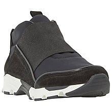 Buy Dune Black Ebony Casual Trainers, Black Leather Online at johnlewis.com