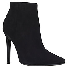Buy Carvela Sand High Heeled Stiletto Ankle Boots, Black Suede Online at johnlewis.com