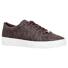 Buy MICHAEL Michael Kors Keaton Flat Heeled Lace Up Trainers Online at johnlewis.com