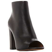 Buy Dune Black Oathe Block Heel Open Toe Ankle Boots Online at johnlewis.com