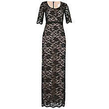 Buy Belle by Badgley Mischka Scallop Lace Maxi Dress, Black/Nude Online at johnlewis.com