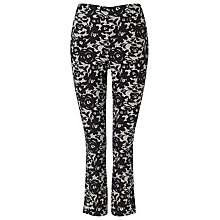 Buy Phase Eight Elise Lace Trousers, Black/Ivory Online at johnlewis.com