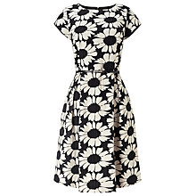 Buy Phase Eight Daisy Jacquard Dress, Black/Ivory Online at johnlewis.com