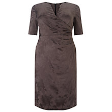 Buy Studio 8 Rosalie Floral Jacquard Dress, Graphite Online at johnlewis.com