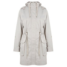 Buy Mint Velvet Drawstring Parka, Grey Online at johnlewis.com
