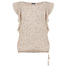 Buy Mint Velvet Rosa Print Ruffle Top, Multi Online at johnlewis.com