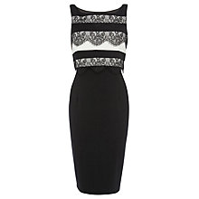 Buy Coast Lee Lace Stripe Dress, Black Online at johnlewis.com