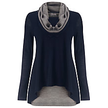 Buy Phase Eight Clementine Contrast Jumper, Navy/Grey Online at johnlewis.com