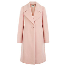 Buy Hobbs Celeste Coat, Icing Pink Online at johnlewis.com