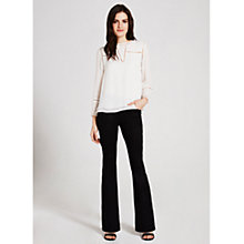 Buy Mint Velvet Savannah Flare Jeans, Black Online at johnlewis.com