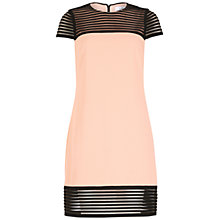 Buy Belle by Badgley Mischka Illusion Stripe Dress, Blush/Black Online at johnlewis.com
