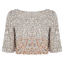 Buy Coast Dorianna Sequin Ombre Top, Blush Online at johnlewis.com