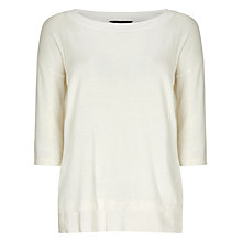 Buy Phase Eight Ariana Boxy Knit Jumper, Ivory Online at johnlewis.com