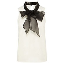 Buy Coast Lorelly Organza Bow Blouse, Black/White Online at johnlewis.com