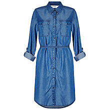 Buy Miss Selfridge Belted Denim Shirt Dress, Mid Wash Online at johnlewis.com