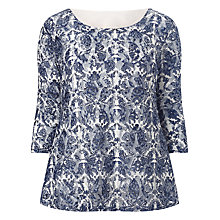 Buy Studio 8 Noella Printed Lace Top, Blue Online at johnlewis.com