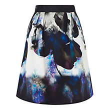 Buy Coast Sailia Printed Skirt, Black/Multi Online at johnlewis.com