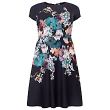 Buy Studio 8 Floral Print Helena Dress, Navy/Multi Online at johnlewis.com