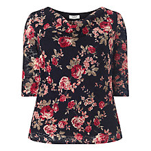 Buy Studio 8 Simone Lace Floral Print Top, Navy/Multi Online at johnlewis.com