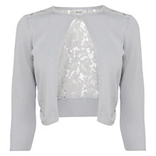 Buy Coast Mab Lace Back Cover Up, Silver Online at johnlewis.com